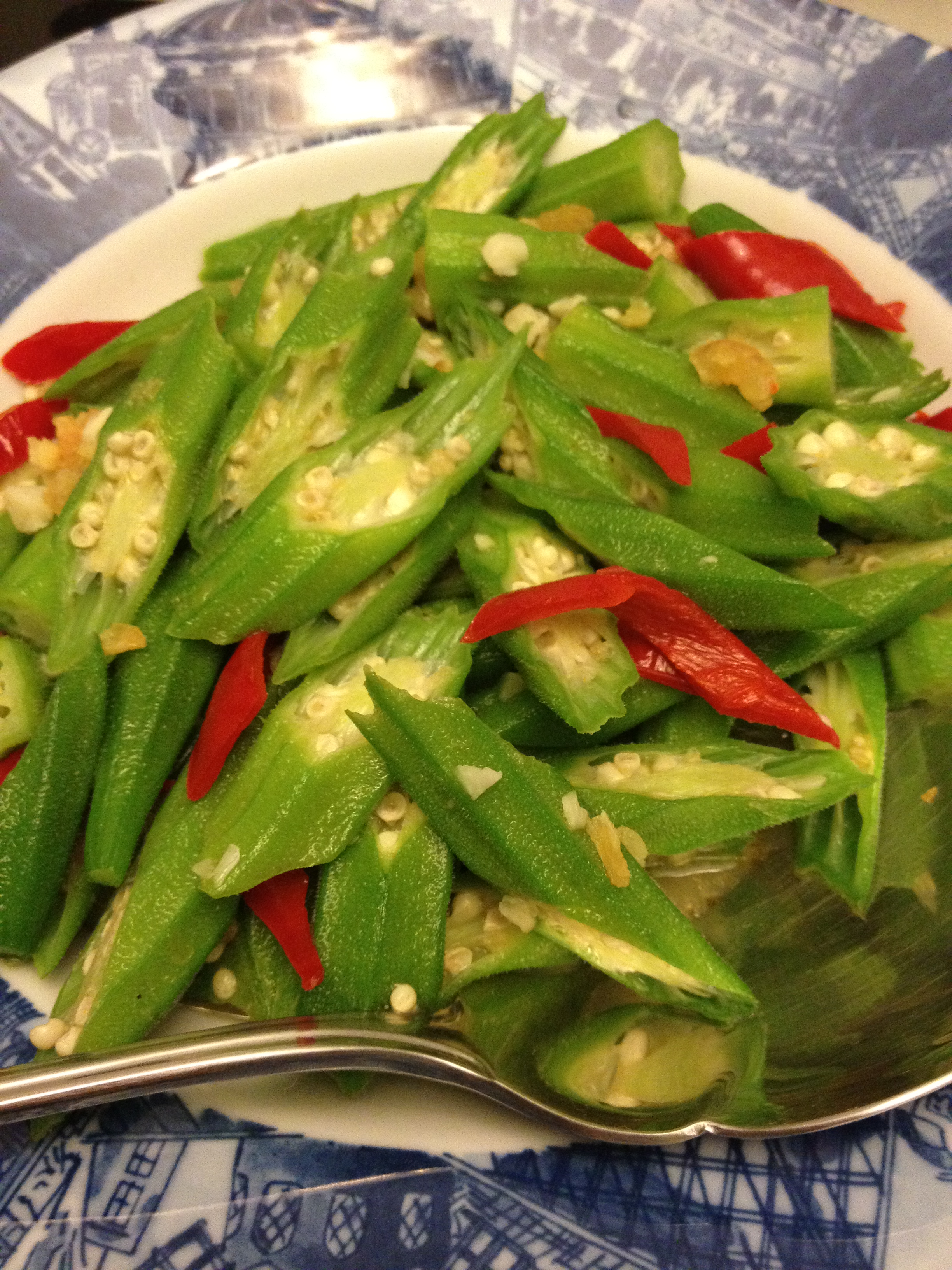 Stir fried okra ladys finger food made with love this forumfinder Gallery