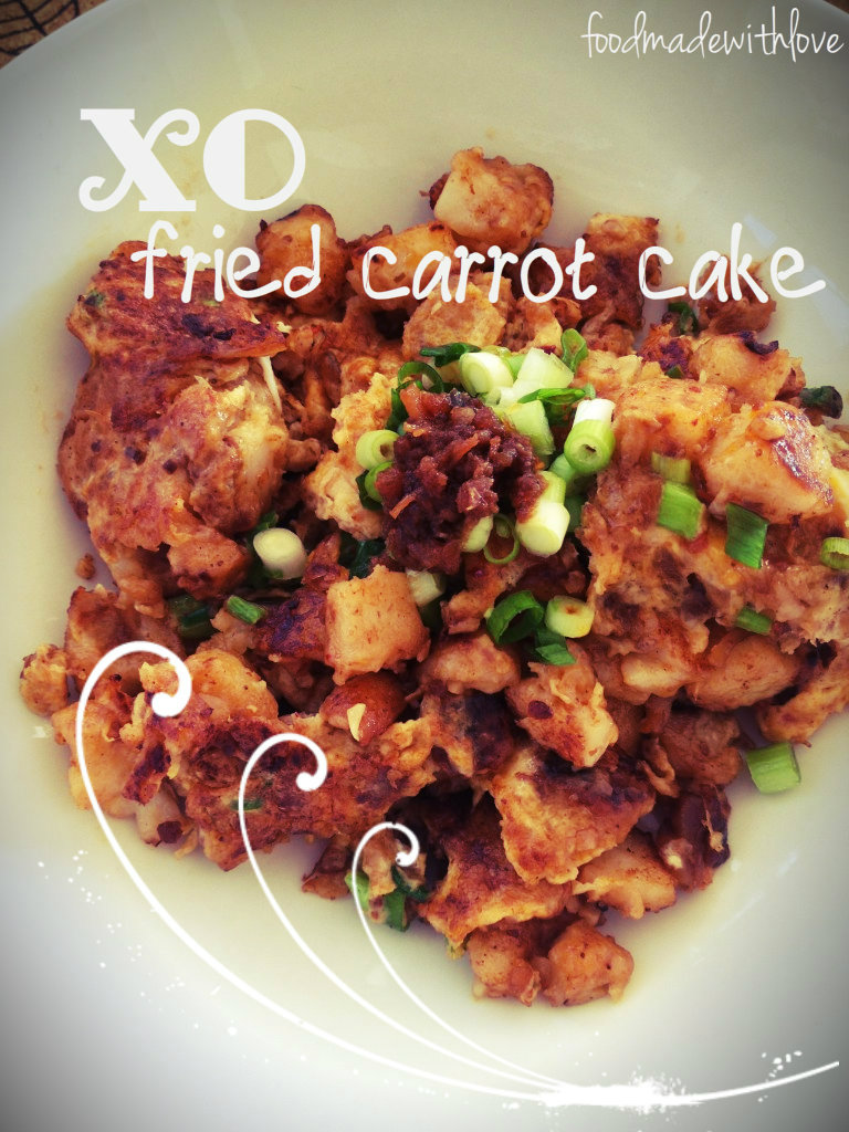 Fried carrot cake black recipe