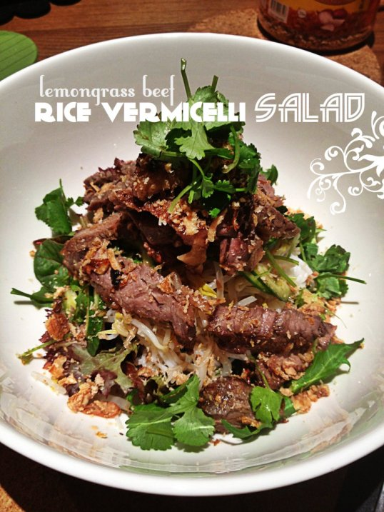 Lemongrass Beef Rice Vermicelli Salad | Food Made With Love