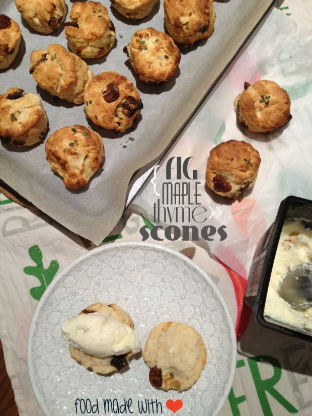 Fig Maple & Thyme Scones