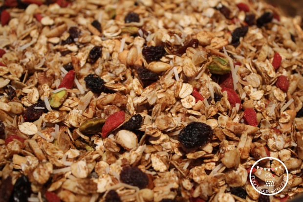 Gingery & coconutty granola