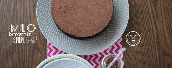 Milo Brownie Pound Cake