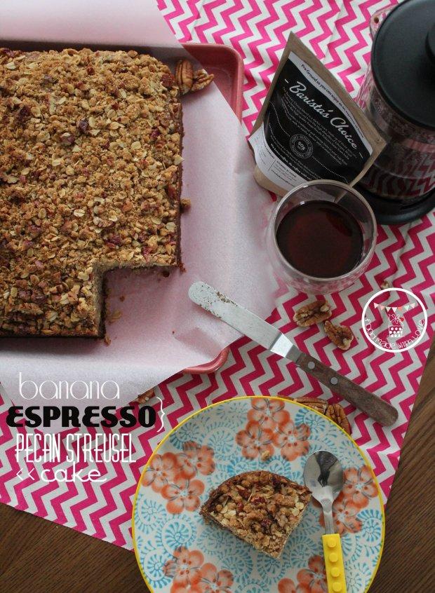 Banana Espresso Pecan Streusel Cake