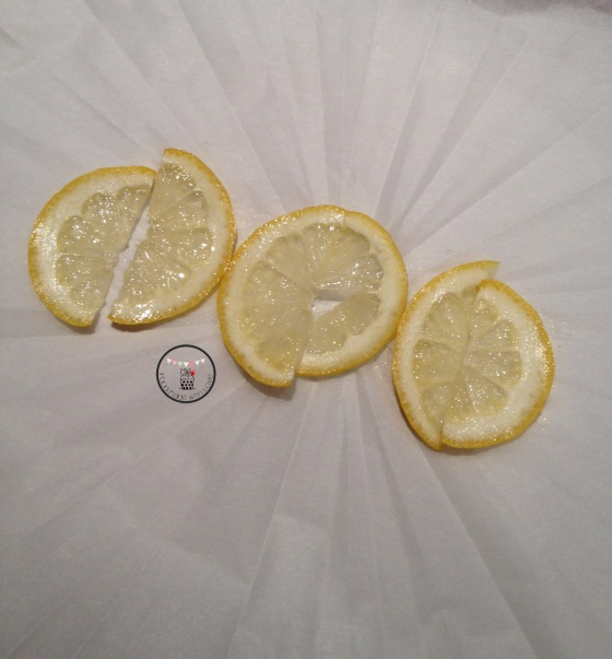 lemon on parchment paper