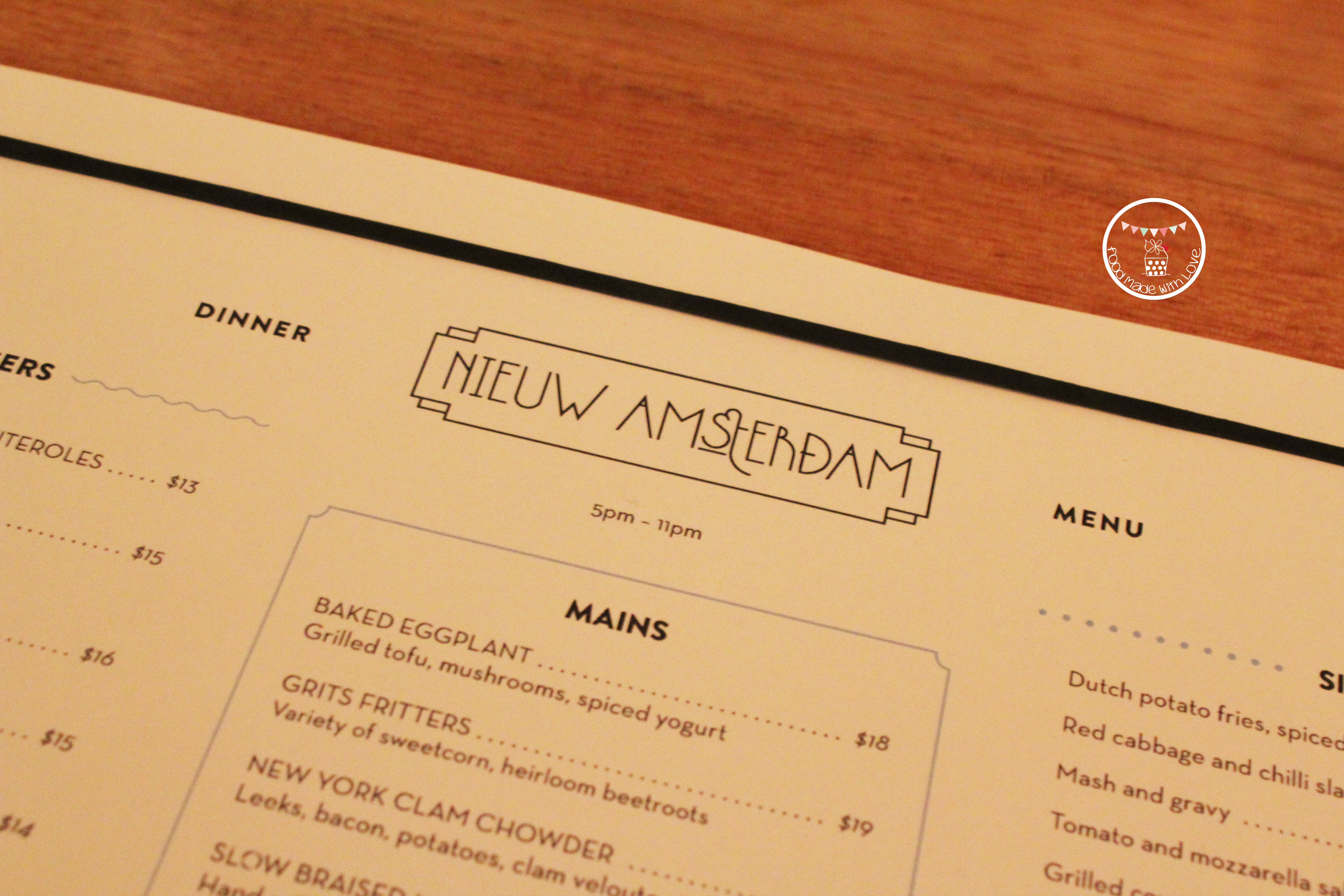 Turning 28 At Nieuw Amsterdam Food Made With Love