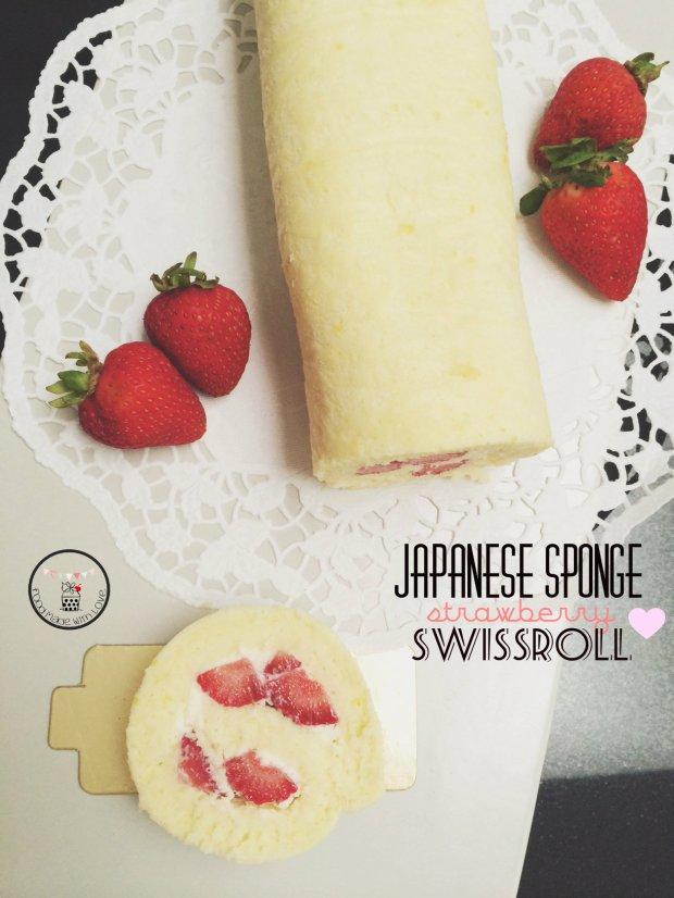 Japanese sponge strawberry swissroll