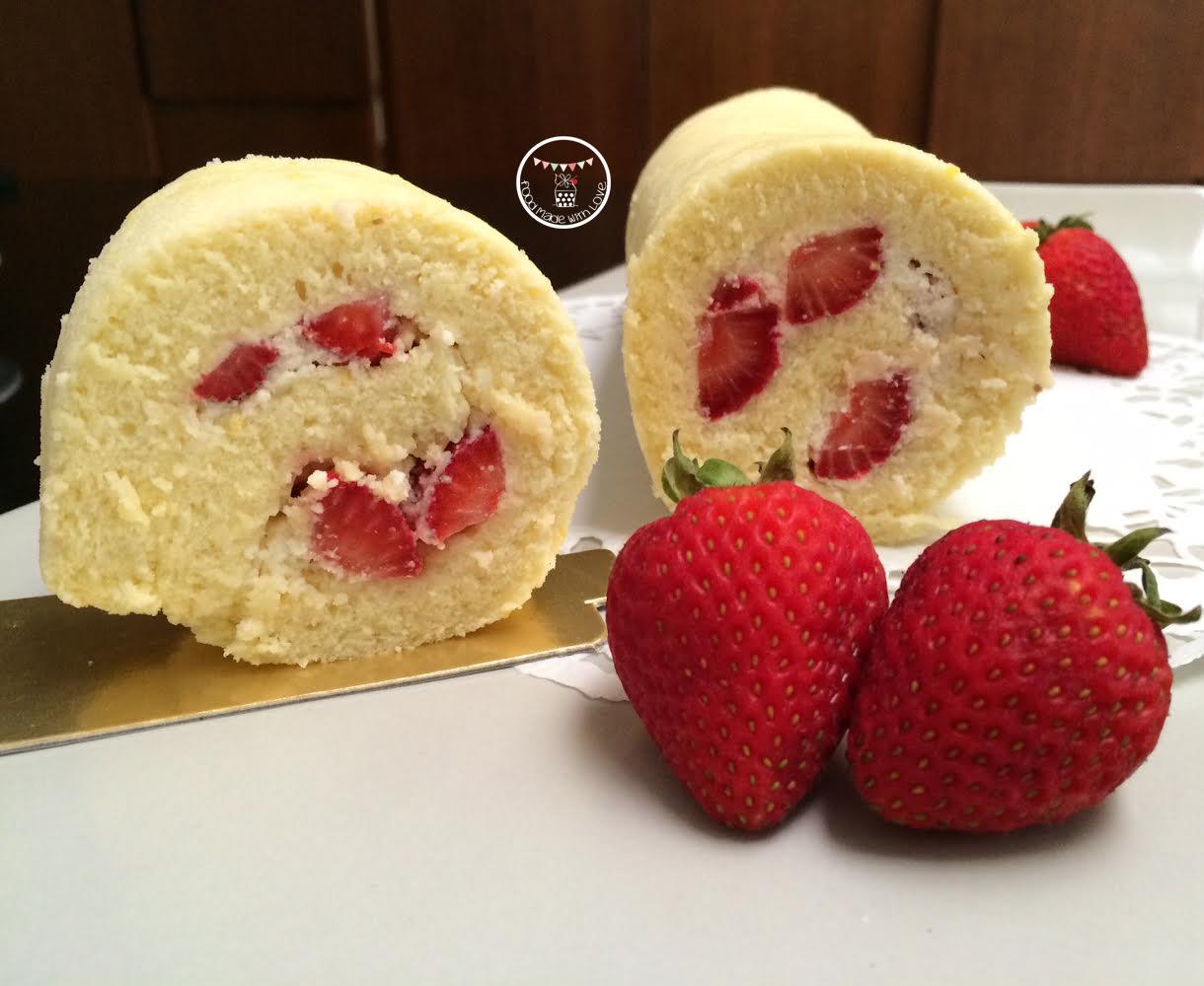 Japanese Sponge Roll Cake Recipe