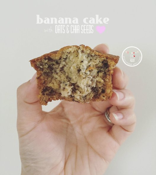 Banana Cake with Oats & Chia Seeds